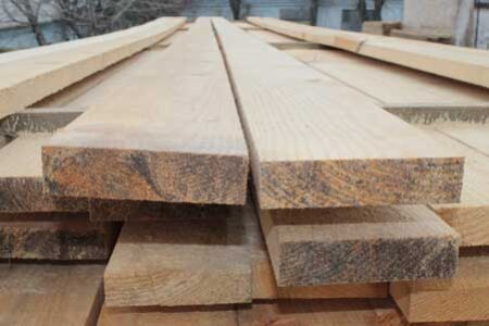 Board cut pine 25*120 mm