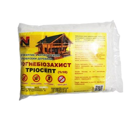 Вогнебіозахист для дерева triosept 1 кг