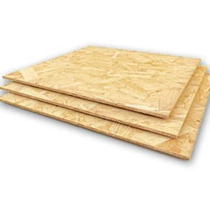 OSB oriented particle boards