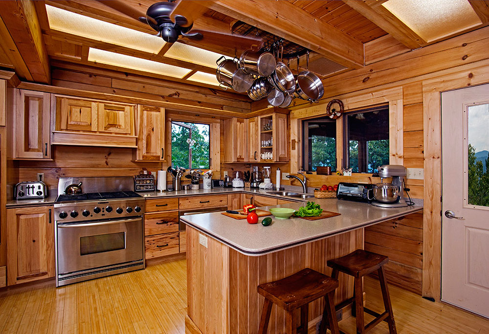 Блок хаус на кухне