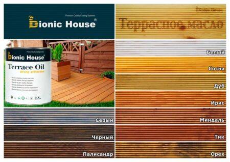 Терасне масло Strong Protect Bionic House колір